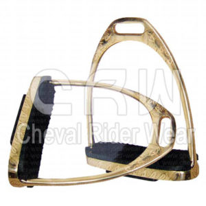 CRW | Brass Engraved Fillis Stirrups CRW-2214