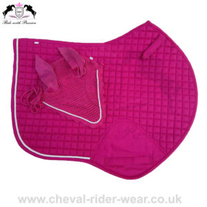 Horse Jumping Saddle Pads Matchy Matchy Set Burgundy
