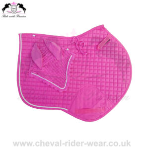 Horse Jumping Saddle Pads Matchy Set Pink