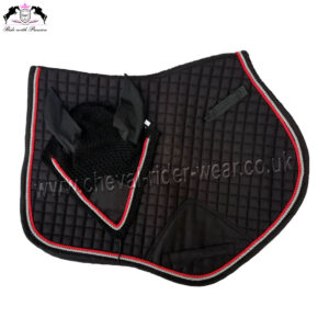 Matching Jumping Saddle Pad Set Black