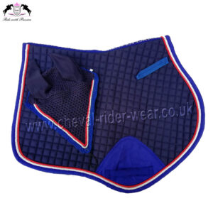 Matching Jumping Saddle Pad Set Navy Blue