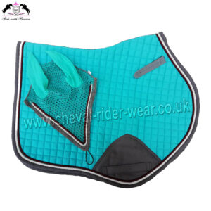 Matching Jumping Saddle Pad Set Turquoise