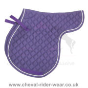 Horse English Dressage Saddle Pads CRW Purple