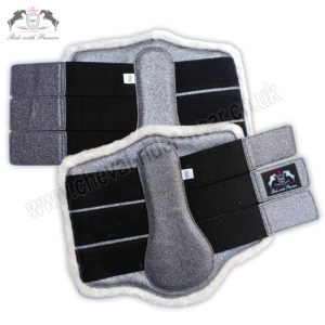 Glitter Horse Brushing Boots Grey Tendon Boots