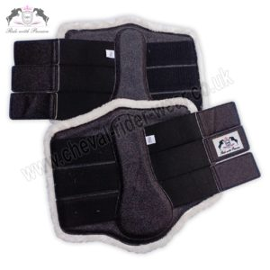 Glitter Tendon Boots Black Horse Brushing Boots