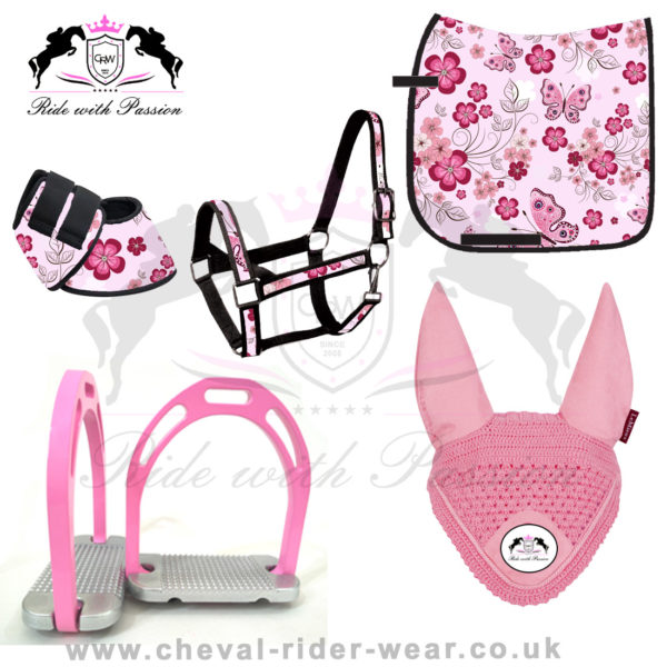 Matching Saddle Pad Sets Butterfly Flowers