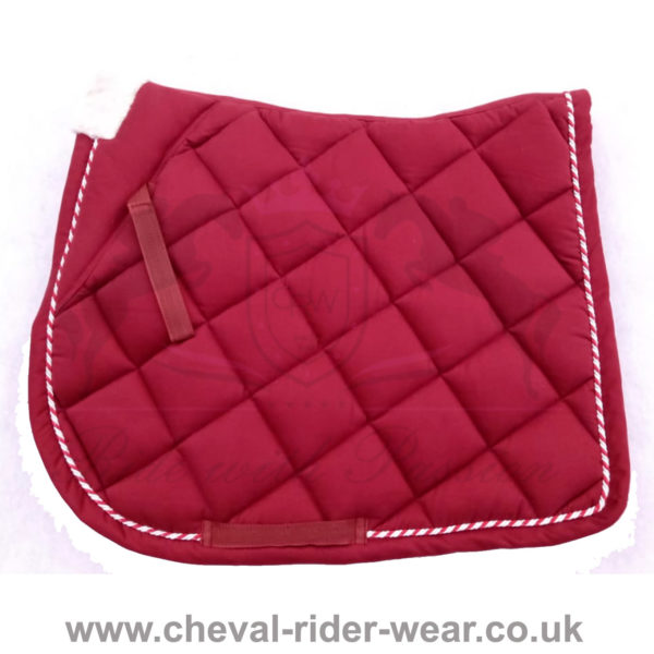 Horse English Saddle Pads CRW Burgundy