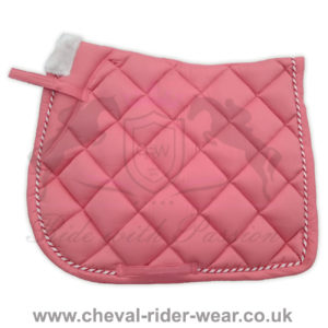 Horse English Saddle Pads CRW Pink