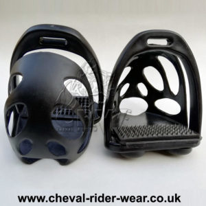 CRW Polymer Safety Toe Cage Stirrups Black