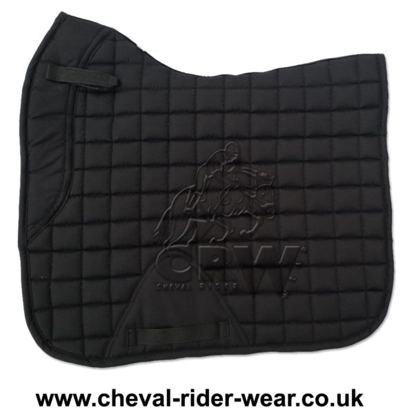 Dressage Saddle Pads Black CRW