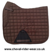 Dressage Saddle Pads Brown CRW