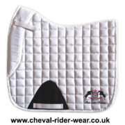 Dressage Saddle Pads White CRW