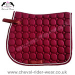Burgundy Dressage Saddle Pads CRW