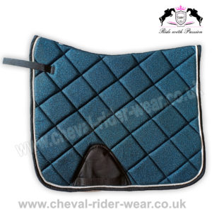 Glitter Saddle Pads All Over Sparkle Dressage Saddle Pads Blue CRW