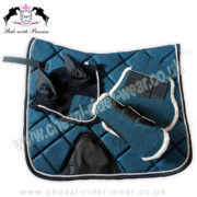 Glitter Matching Saddle Pad Set Blue CRW
