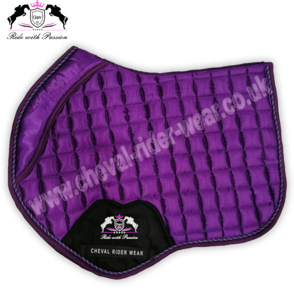 Horse Jumping Saddle Pads Purple Satin Saddle Pads CRW-1950
