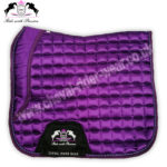 Horse Dressage Saddle Pads Purple Satin Saddle Pads CRW-1951