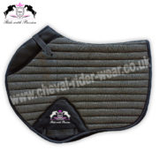 Glitter Saddle Pads All Over Sparkle Jumping Saddle Pads GREY