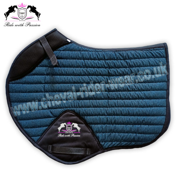 Glitter Saddle Pads All Over Sparkle Jumping Saddle Pads Blue