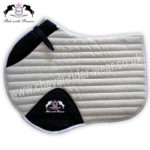 Glitter Saddle Pads All Over Sparkle Saddle Pads Jumping WHITE CRW-1974