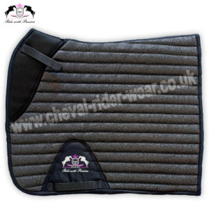 Glitter Saddle Pads All Over Sparkle Saddle Pads Dressage GREY CRW-1975