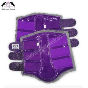 Purple Horse Brushing Boots Shiny Purple Tendon Boots CRW