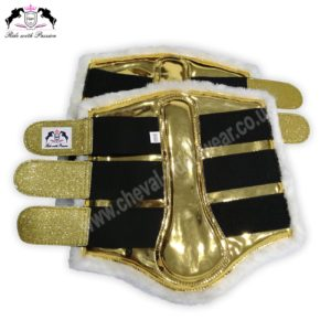 Golden Horse Brushing Boots Shiny Golden Tendon Boots CRW