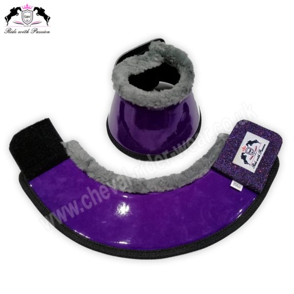Purple Horse Overreach Bell Boots CRW