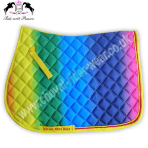Multi colors Horse English Saddle Pads CRW