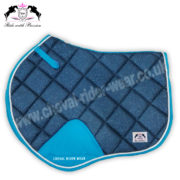 Glitter Saddle Pads All Over Sparkle Jumping Saddle Pads BLUE CRW
