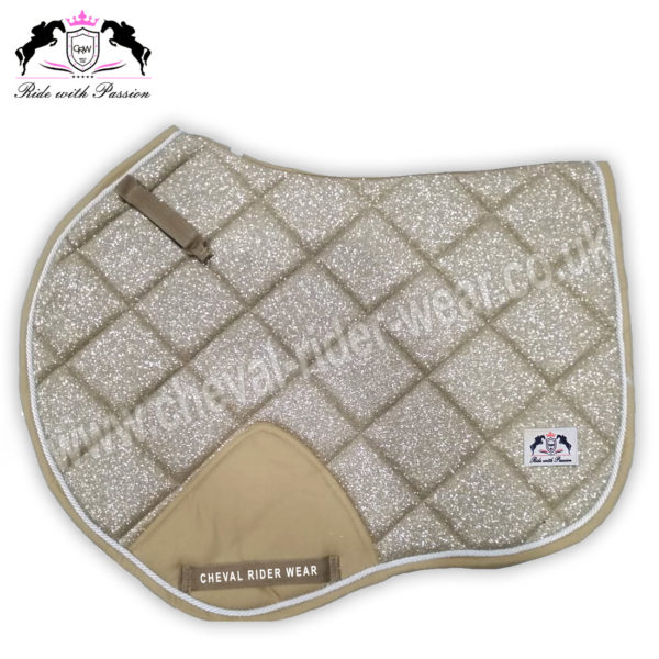 Glitter Saddle Pads All Over Sparkle Jumping Saddle Pads GOLD CRW