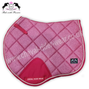 Glitter Saddle Pads All Over Sparkle Jumping Saddle Pads PINK CRW