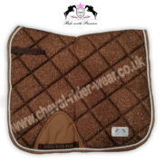 Glitter Saddle Pads All Over Sparkle Dressage Saddle Pads COPPER CRW
