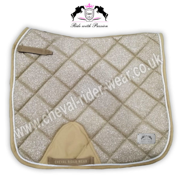 Glitter Saddle Pads All Over Sparkle Dressage Saddle Pads GOLD CRW