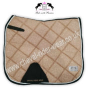 Glitter Saddle Pads All Over Sparkle Dressage Saddle Pads ROSE GOLD CRW