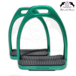 Green Sparkle Fillis Stirrups Horse Riding CRW-2204