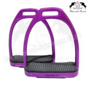 Purple Sparkle Fillis Stirrups Horse Riding CRW-2204