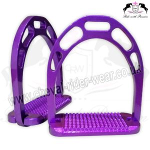CRW Aluminium Stirrups Horse Riding CRW-2266 Purple