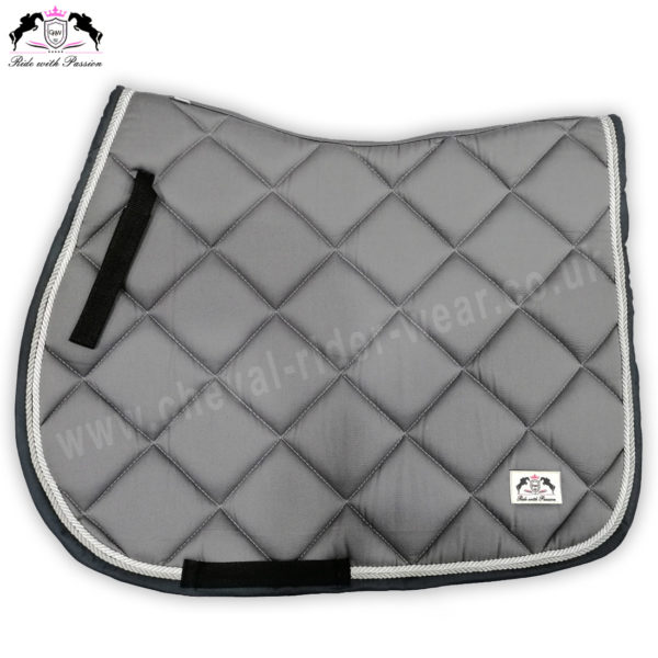 Horse English Saddle Pads Grey CRW-1955