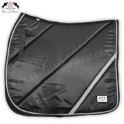 Horse English Saddle Pads Black Satin Saddle Pads CRW-1956
