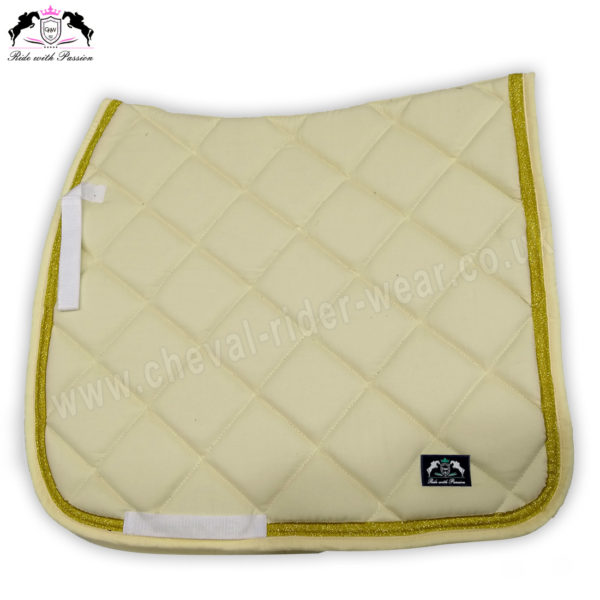 Horse English Saddle Pads Beige CRW-1962