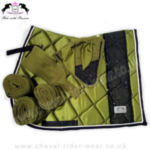 Matchy Matchy Saddle Pad Sets Bling Olive Green CRW-MAT11