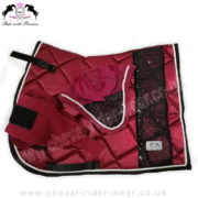 Matchy Matchy Saddle Pad Sets Bling Burgundy CRW-MAT11