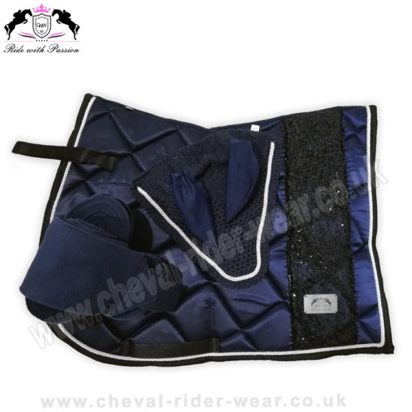 Matchy Matchy Saddle Pad Sets Bling Navy CRW-MAT11