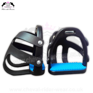 Polymer Safety Toe Cage Stirrup CRW-2262 Blue