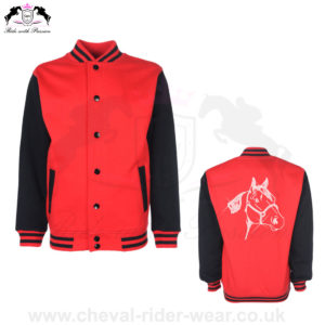 Varsity Jackets Horse Riding CRW-VJS-6036 Grey Purple
