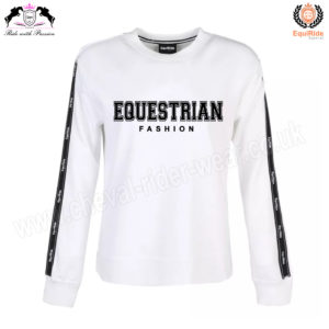 Equestrian Fashion SweatShirt White CRW-SS-101