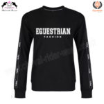 Equestrian Fashion SweatShirt Black CRW-SS-101