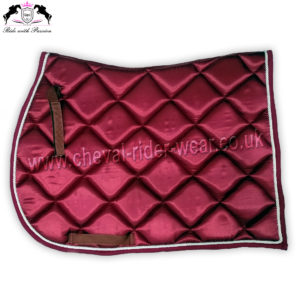 Horse Burgundy Shiny Satin Saddle Pads CRW-1976