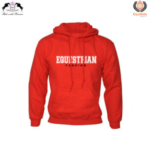 Red Women's Pullover Hoodies Sweatshirts Equestrian Fashion CRW-HOD-003